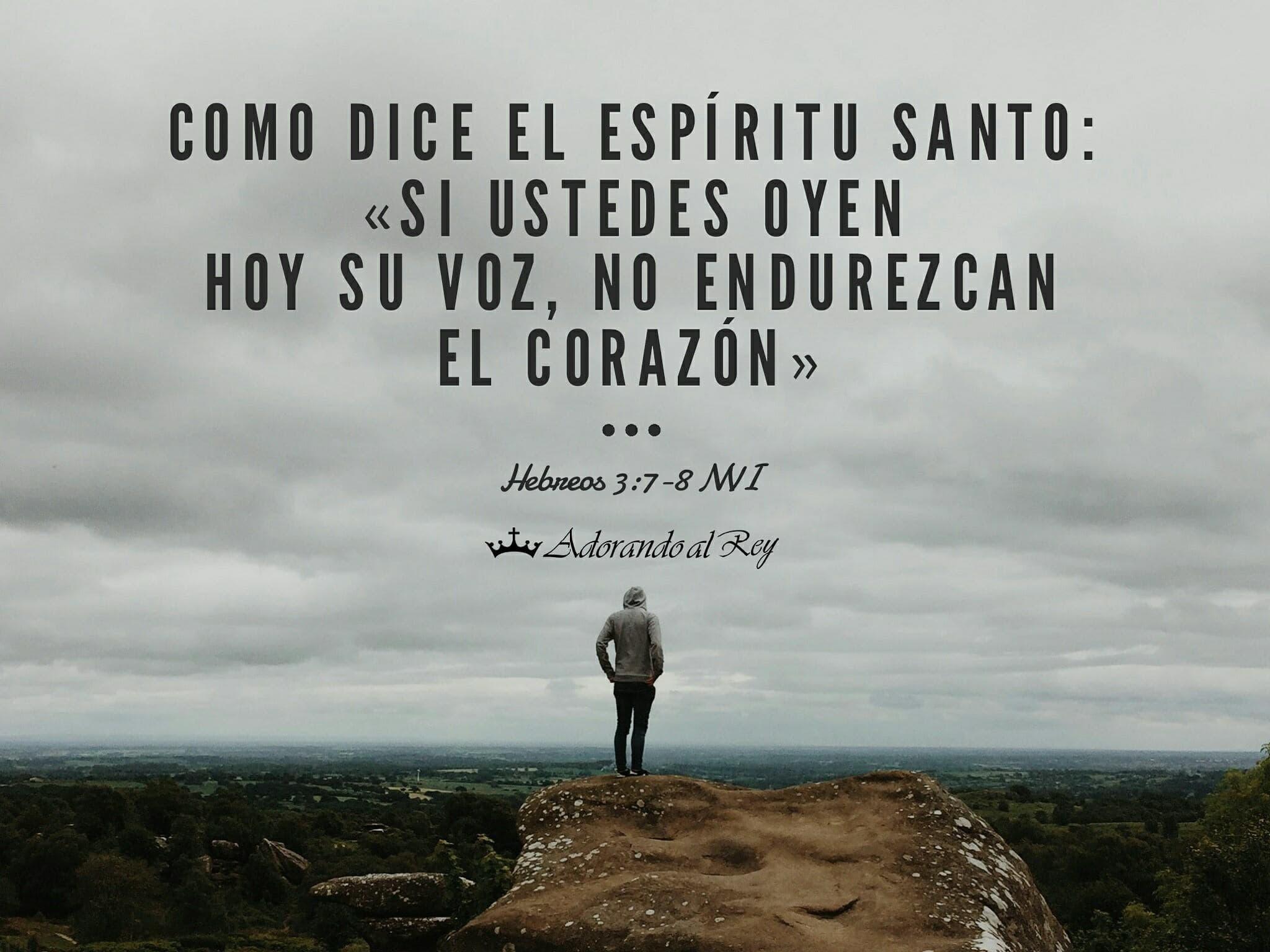 Hebreos 3:7-8